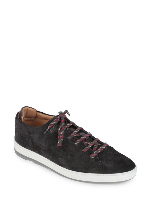 Heschung Ace Dark Brown Suede Sneaker