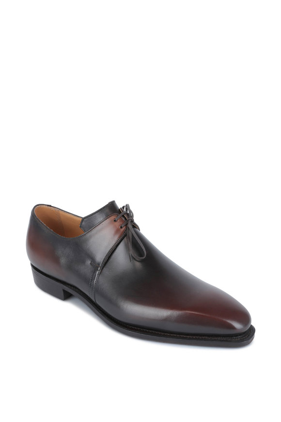Corthay Pullman Arca Light Ebebe Antiqued Derby Shoe