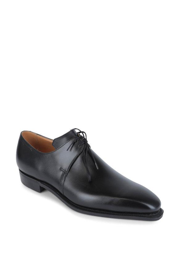 Corthay Pullman Arca Black Leather Derby Shoe