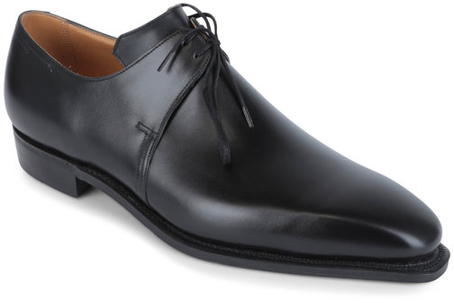 Corthay Pullman Arca Black Leather Derby Shoe