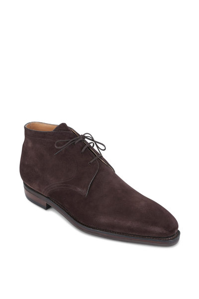 Corthay - Pullman Dark Brown Suede Chukka Boot