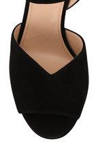 Prada - Black Suede V Platform Sandal, 95mm