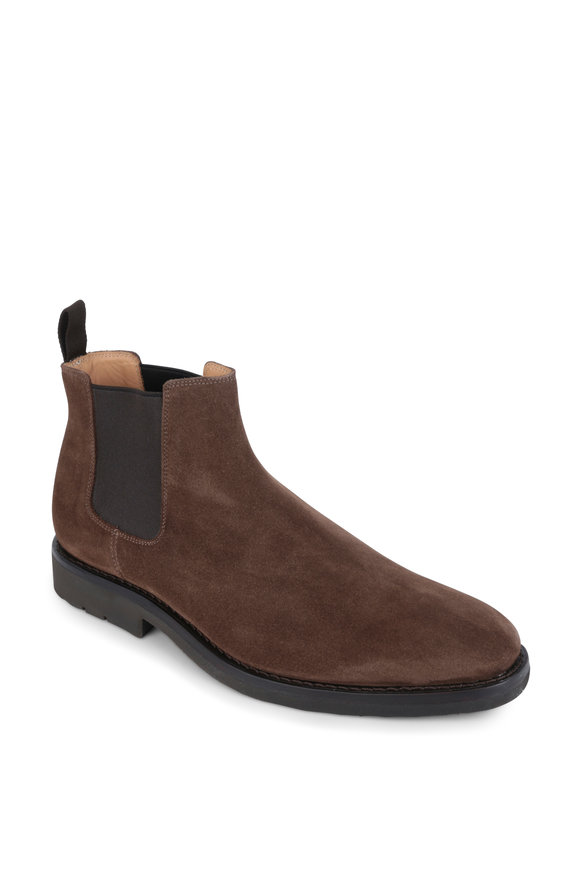 Heschung Fusain Mocca Brown Suede Chelsea Boot