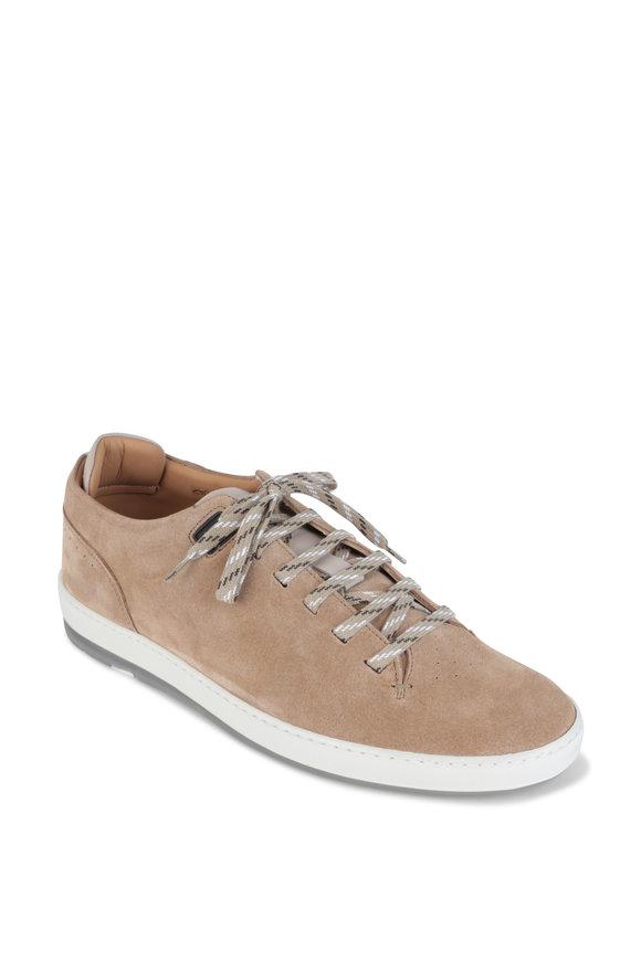 Heschung Ace Cream Suede Sneaker