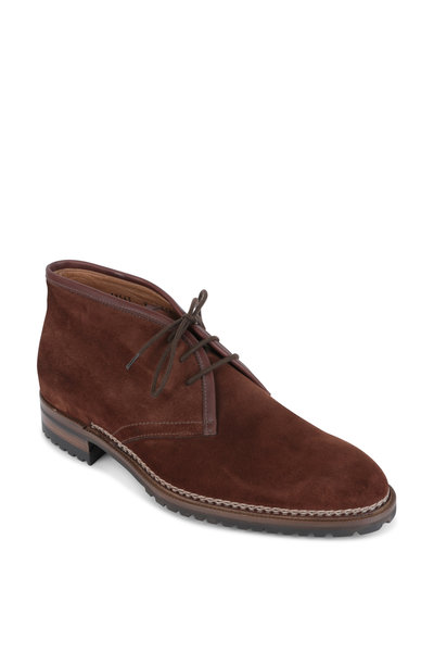 Gravati - Dark Brown Suede Chukka Boot