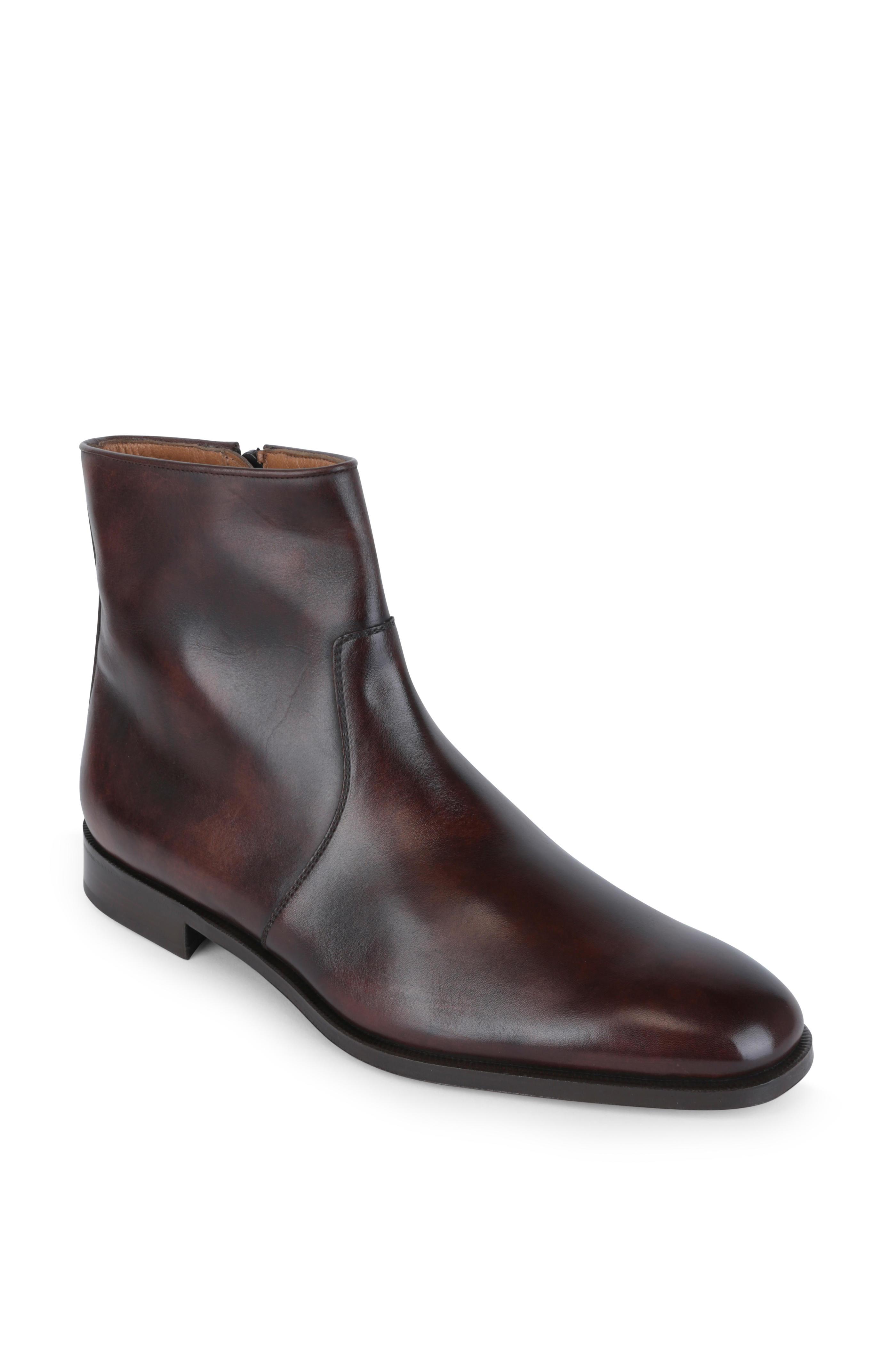 Gravati Bradica Dark Brown Burnished Leather Boot