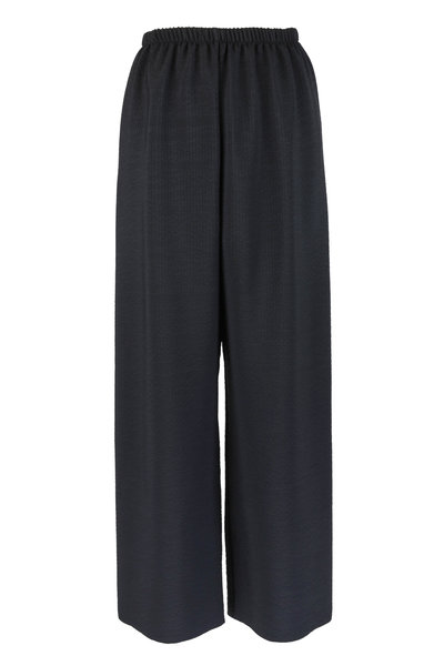 Peter Cohen - Black Hammered Silk Pull-On Pant