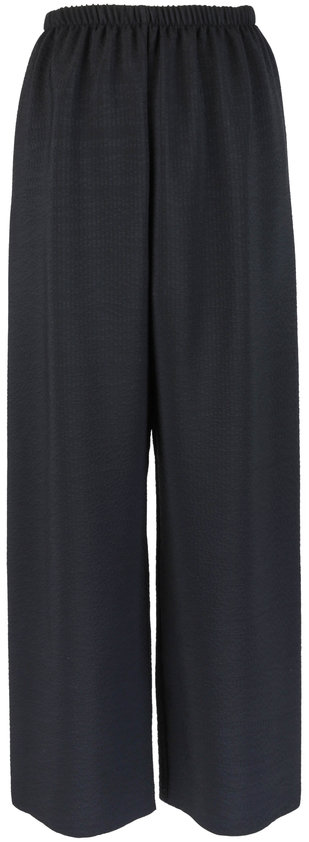Peter Cohen Black Hammered Silk Pull-On Pant