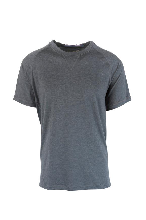 4 Laps Level Gray Short Sleeve Performance T-Shirt