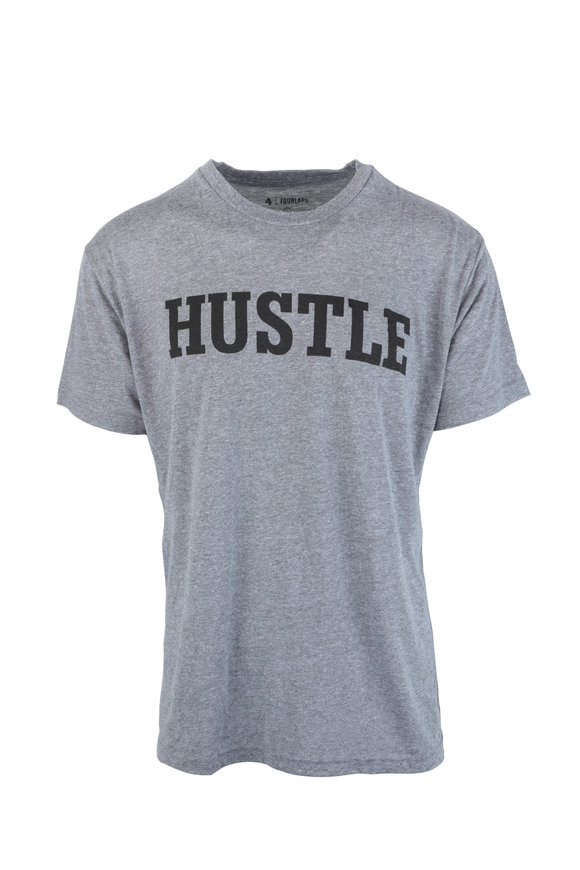 4 Laps Gray 'Hustle' T-Shirt