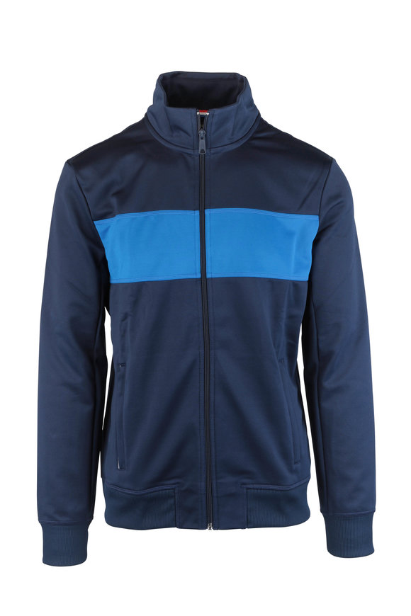 4 Laps Relay Blue Bold Striped Track Jacket