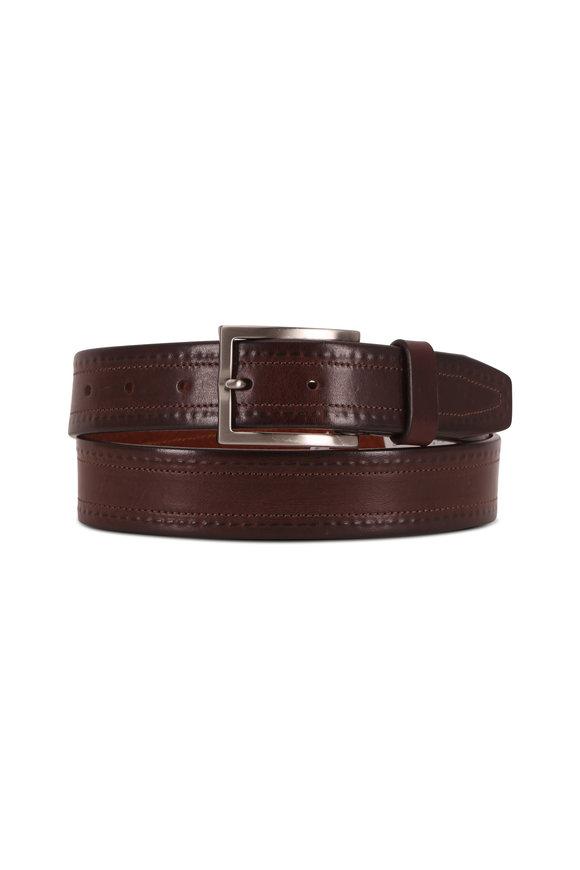 Trafalgar Wesley Brown Leather Belt