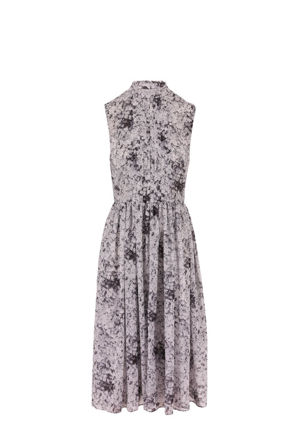 Adam Lippes Baby's Breath Pleated Sleeveless Dress
