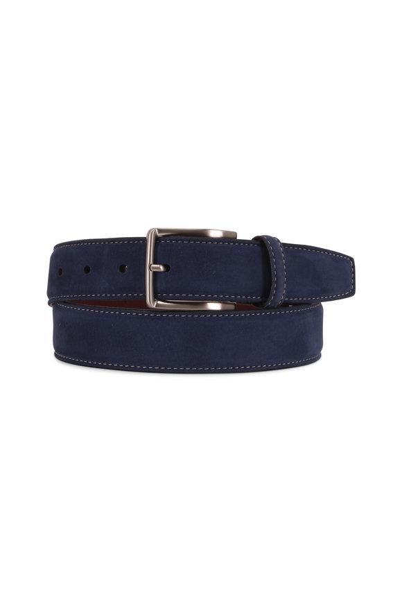 Torino Navy Blue Suede Belt