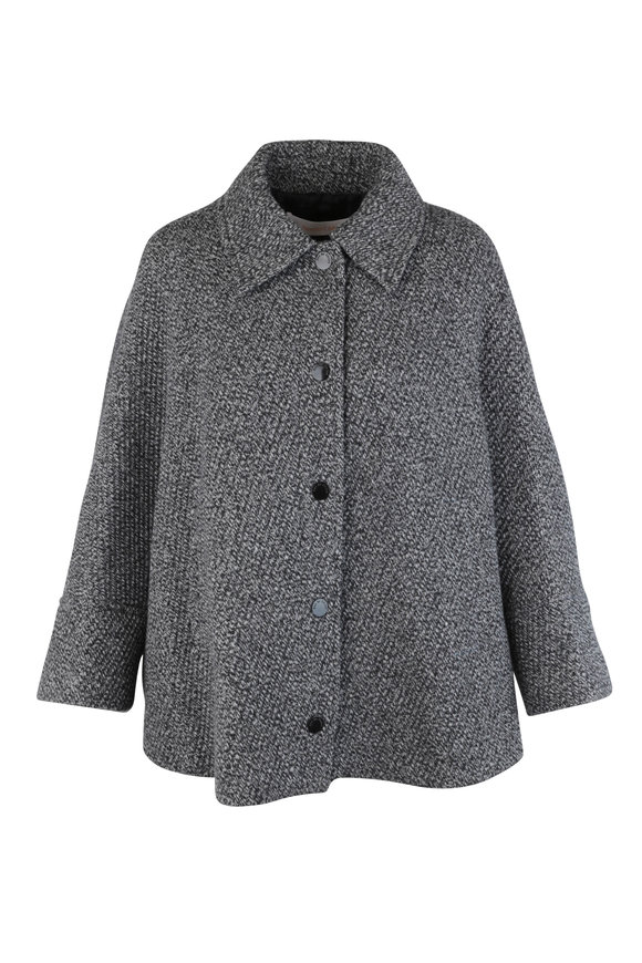 See by Chloé City Black & White Wool Blend Swing Jacket