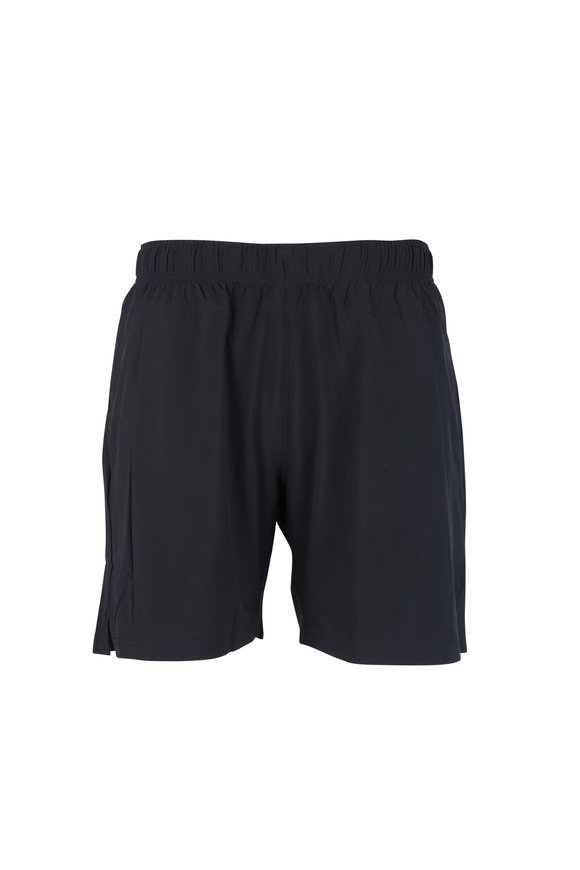 4 Laps Bolt Solid Black Performance Shorts