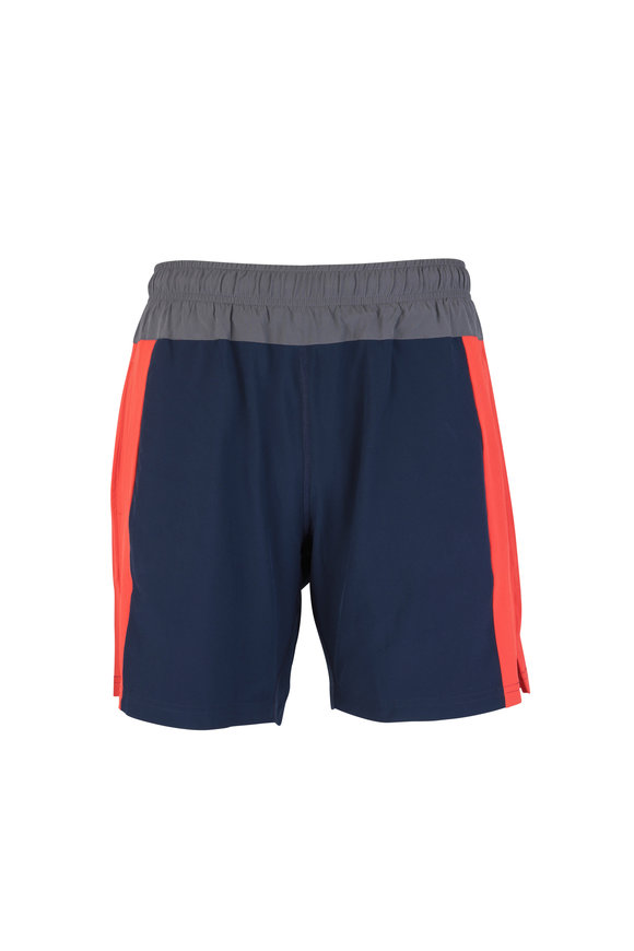 4 Laps Bolt Navy Blue & Red Performance Shorts