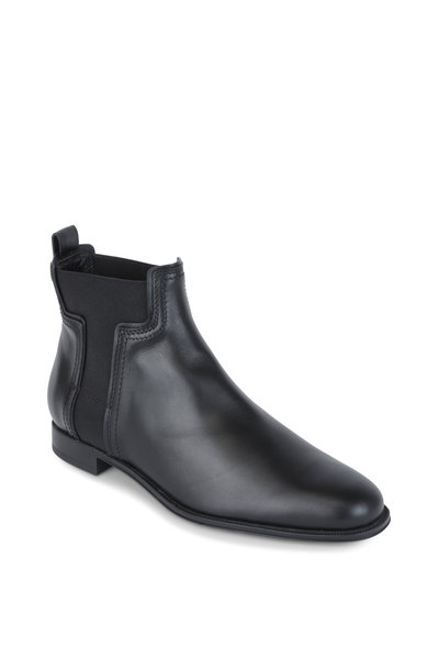 Tod's - Black Matte Leather Chelsea Boot