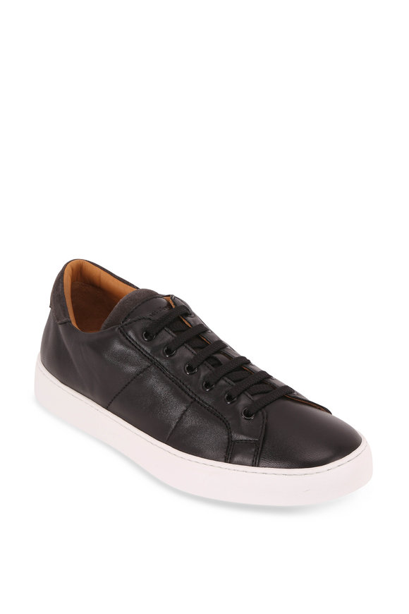 To Boot New York Colton Black Leather Lace-Up Sneaker