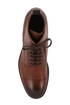 To Boot New York - Richmond Brandy Leather Cap-Toe Lace-Up Boot