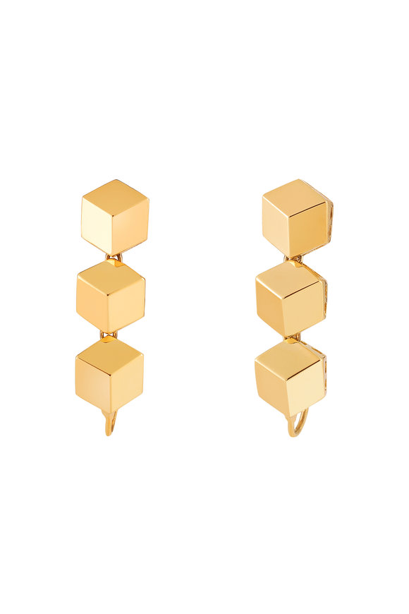 Paolo Costagli 18K Yellow Gold Brillante Earring Toppers