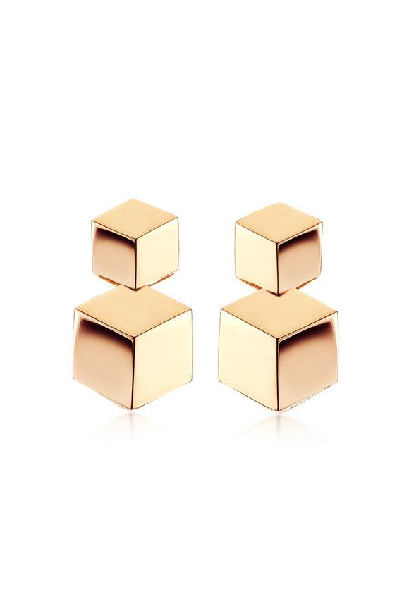 Paolo Costagli 18K Rose Gold Brillante Double Earrings