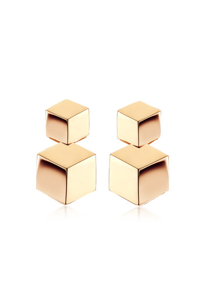 Paolo Costagli - 18K Rose Gold Brillante Double Earrings