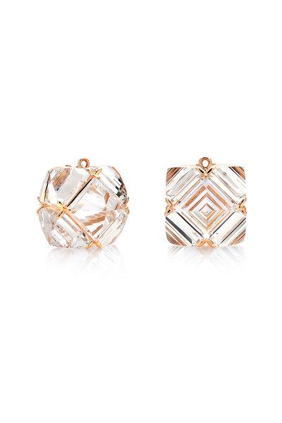 Paolo Costagli - 18K Rose Gold White Topaz Pendant Earrings