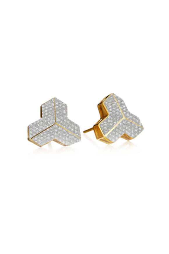 Paolo Costagli 18K Yellow Gold Brillantisimo Stud Earrings