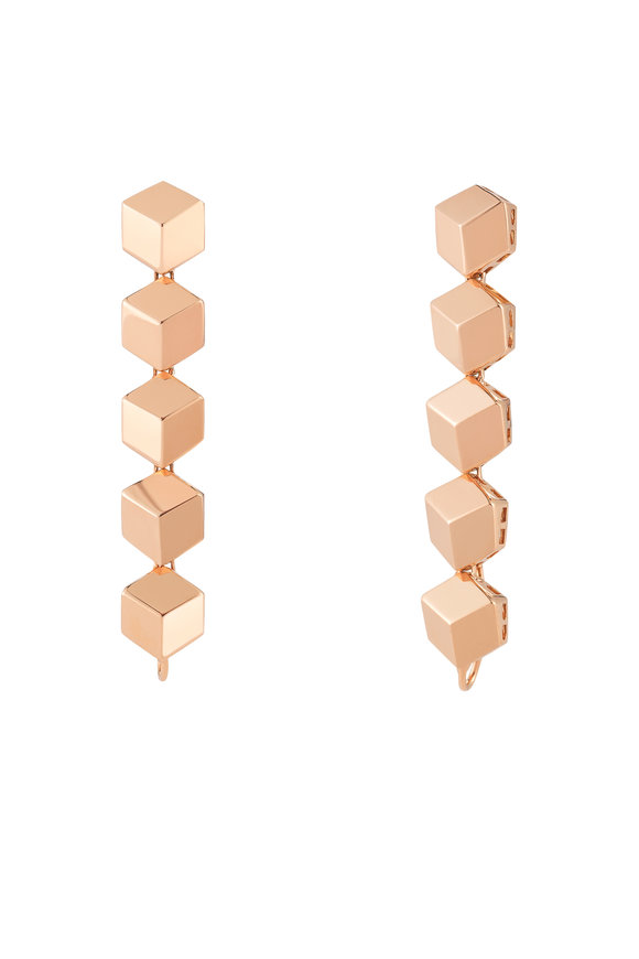 Paolo Costagli Rose Gold Brillante Dangle Earrings