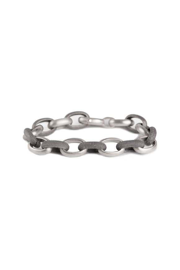 .925Suneera Sterling Silver Alternating Link Bracelet