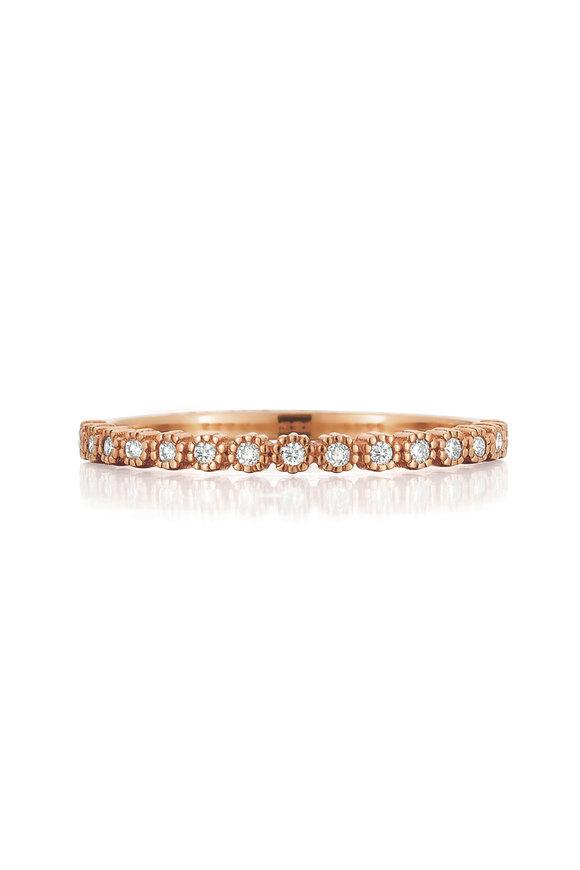 .925Suneera 18K Rose Gold Diamond Zalia Eternity Band