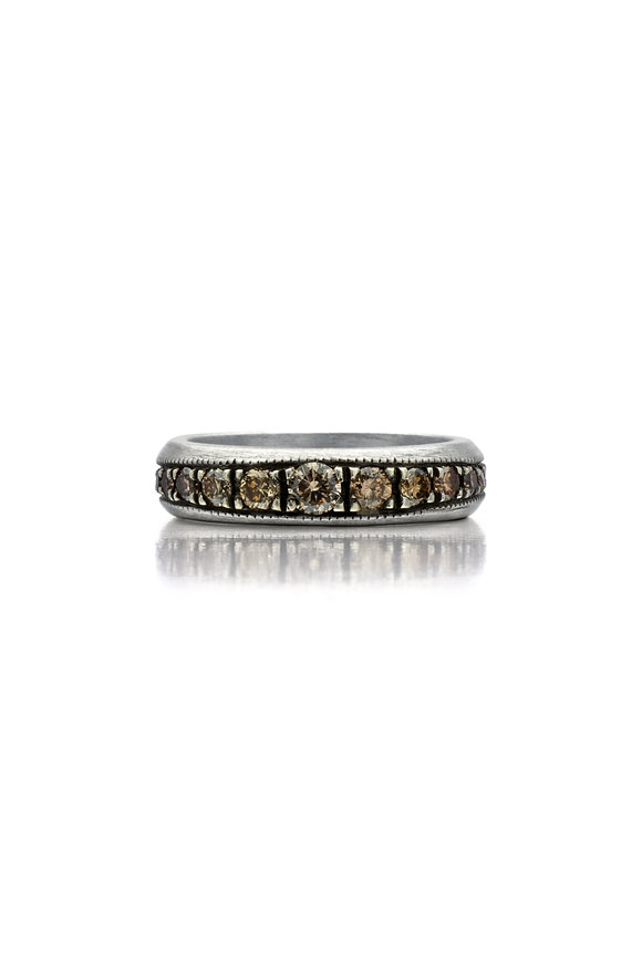 .925Suneera Sterling Silver Champagne Diamond Hala Band
