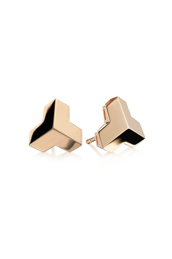 Paolo Costagli 18K Rose Gold Brillantissimo Stud Earrings