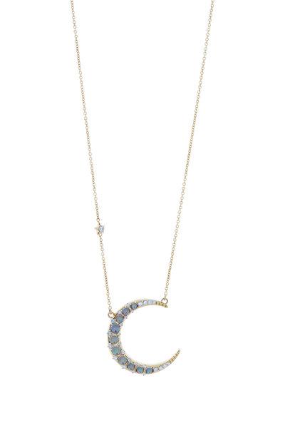 Monica Rich Kosann - 18K Yellow Gold Opal Moon & Star Necklace