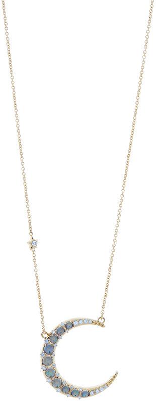 Monica Rich Kosann 18K Yellow Gold Opal Moon & Star Necklace
