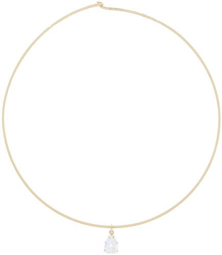 Sylva & Cie 18K Gold Pear Shape Diamond Pendant Necklace