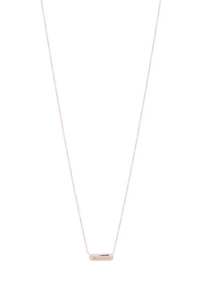 My Story Jewel - 14K Rose Gold Badass Single Diamond Necklace