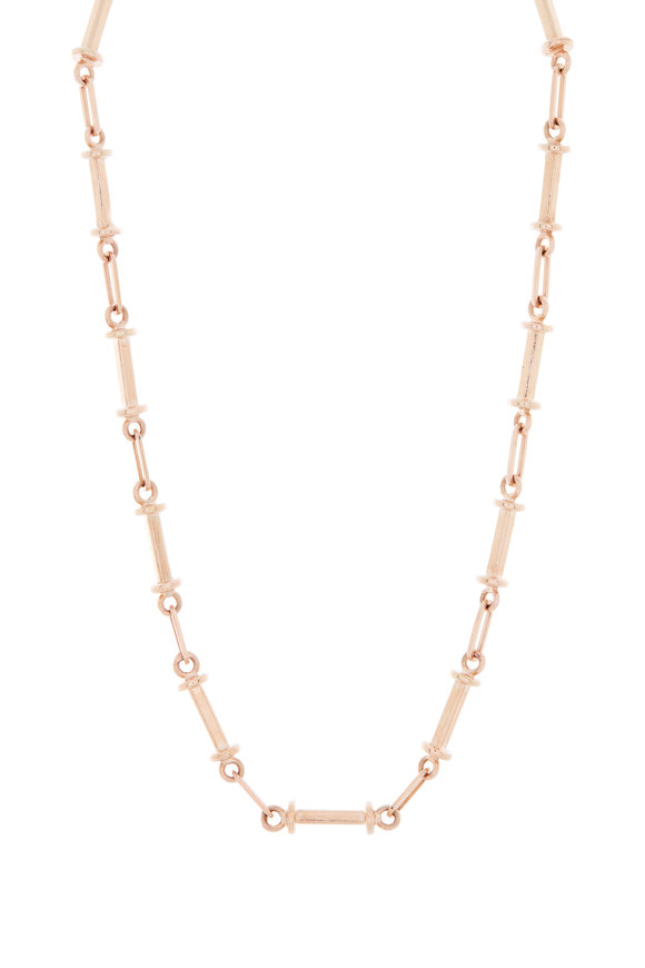 Genevieve Lau Rose Gold Tube & Short Link Chain Necklace