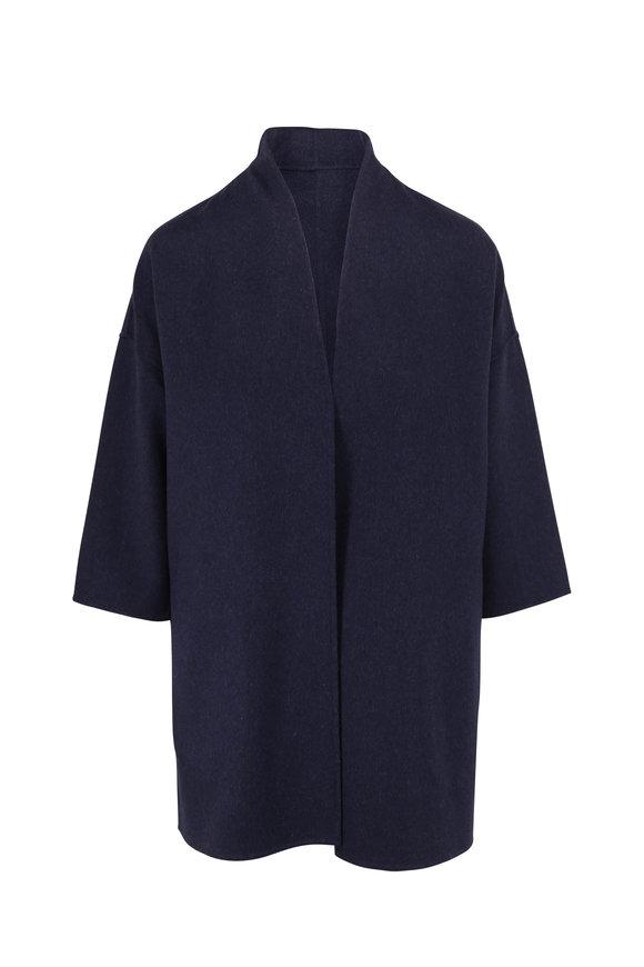 Kinross Dusk Wool & Cashmere Bracelet Sleeve Cardigan
