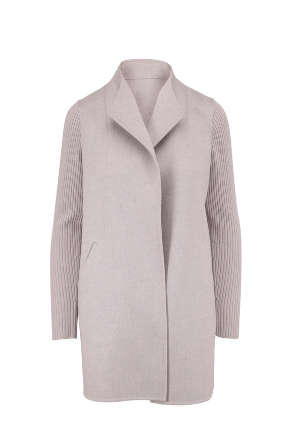 Kinross Grigio Wool & Cashmere Sweater Coat