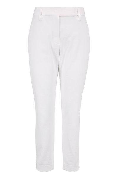 Brunello Cucinelli - White Stretch Cotton Skinny Pant