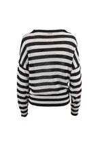 Brunello Cucinelli - Black & White Paillette & Monili Striped Sweater