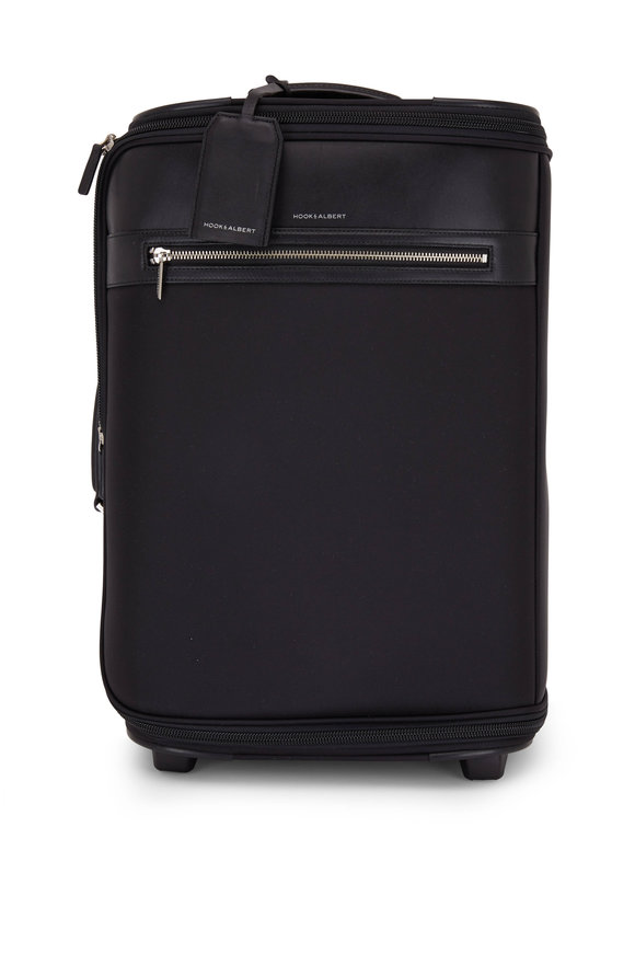 Hook + Albert Black Carry-On Garment Bag Small Suitcase