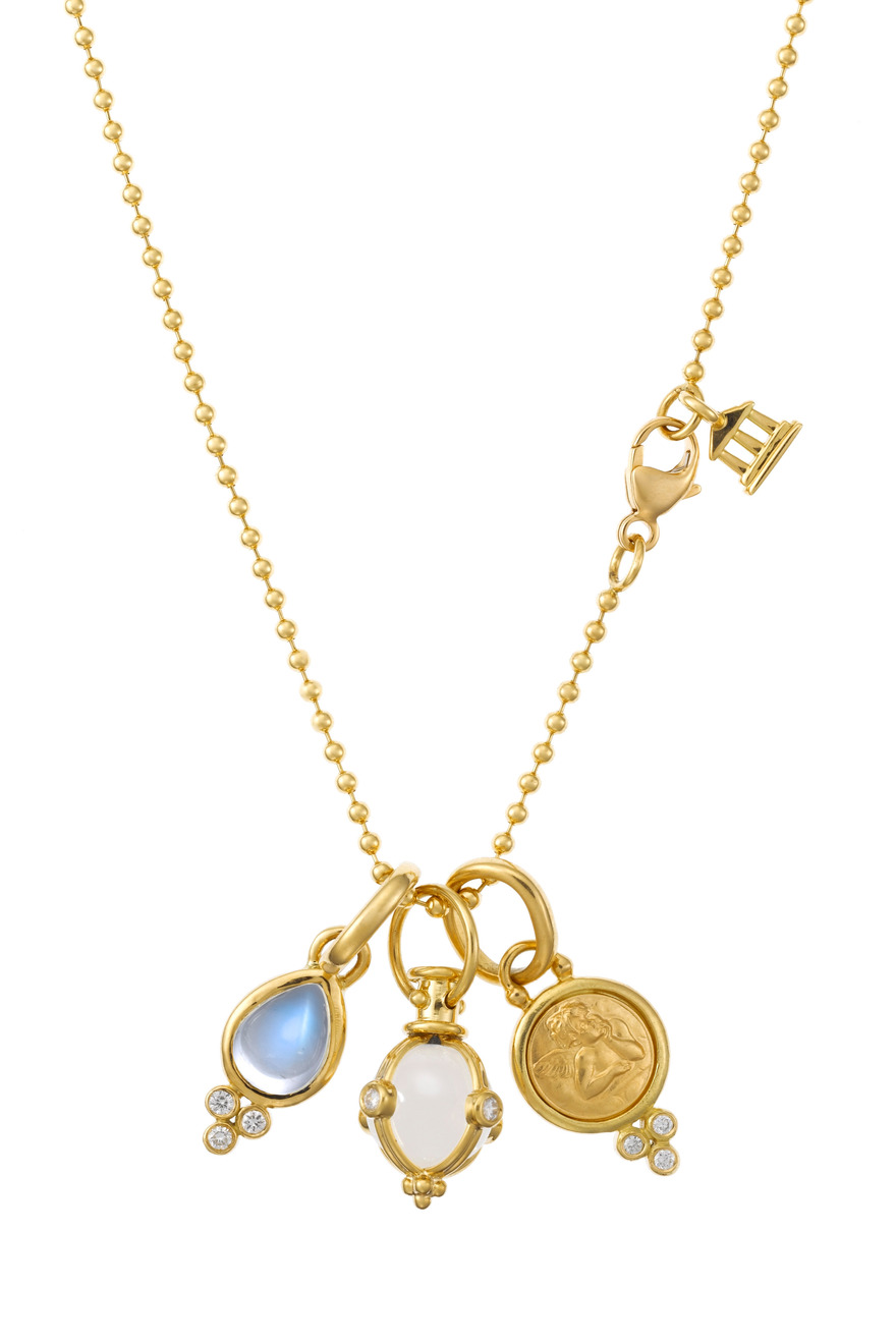 18K Yellow Gold Charm Necklace