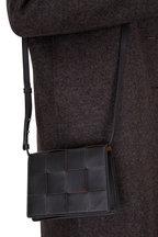 Bottega Veneta - Cassette Black Leather Mini Crossbody Bag