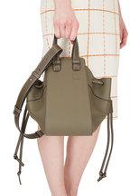 Loewe - Hammock Olive Green Grained Leather Small Bag