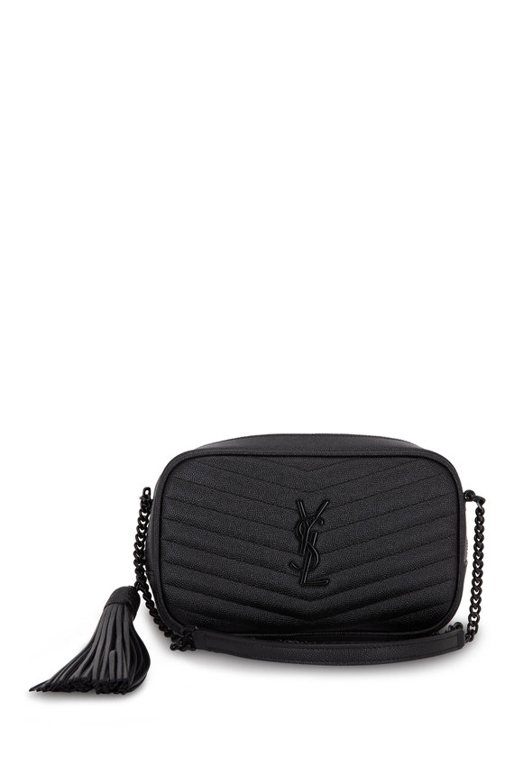 Saint Laurent Lou Mini Black Matelassé Grain De Poudre Mini Bag