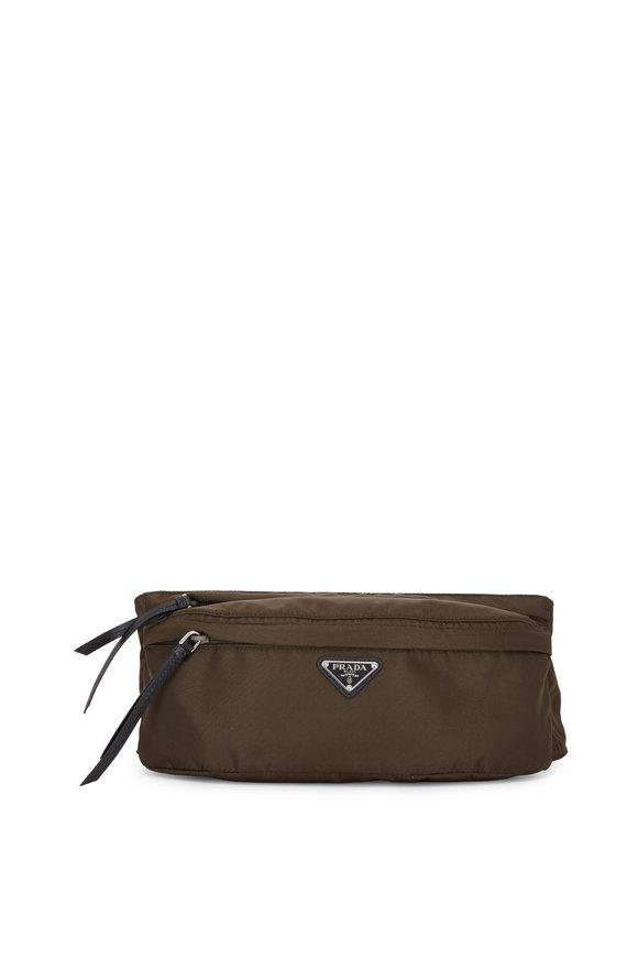 Prada Army Green Tessuto Belt bag