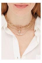 Sylva & Cie - 18K Gold Pear Shape Diamond Pendant Necklace